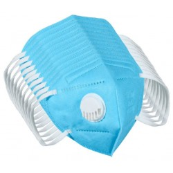 Blue Respirator With Breathing Valve Adult Face Mask by Hui You