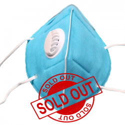 Plow Folding Respirator With Breathing Valve Protective Face Mask