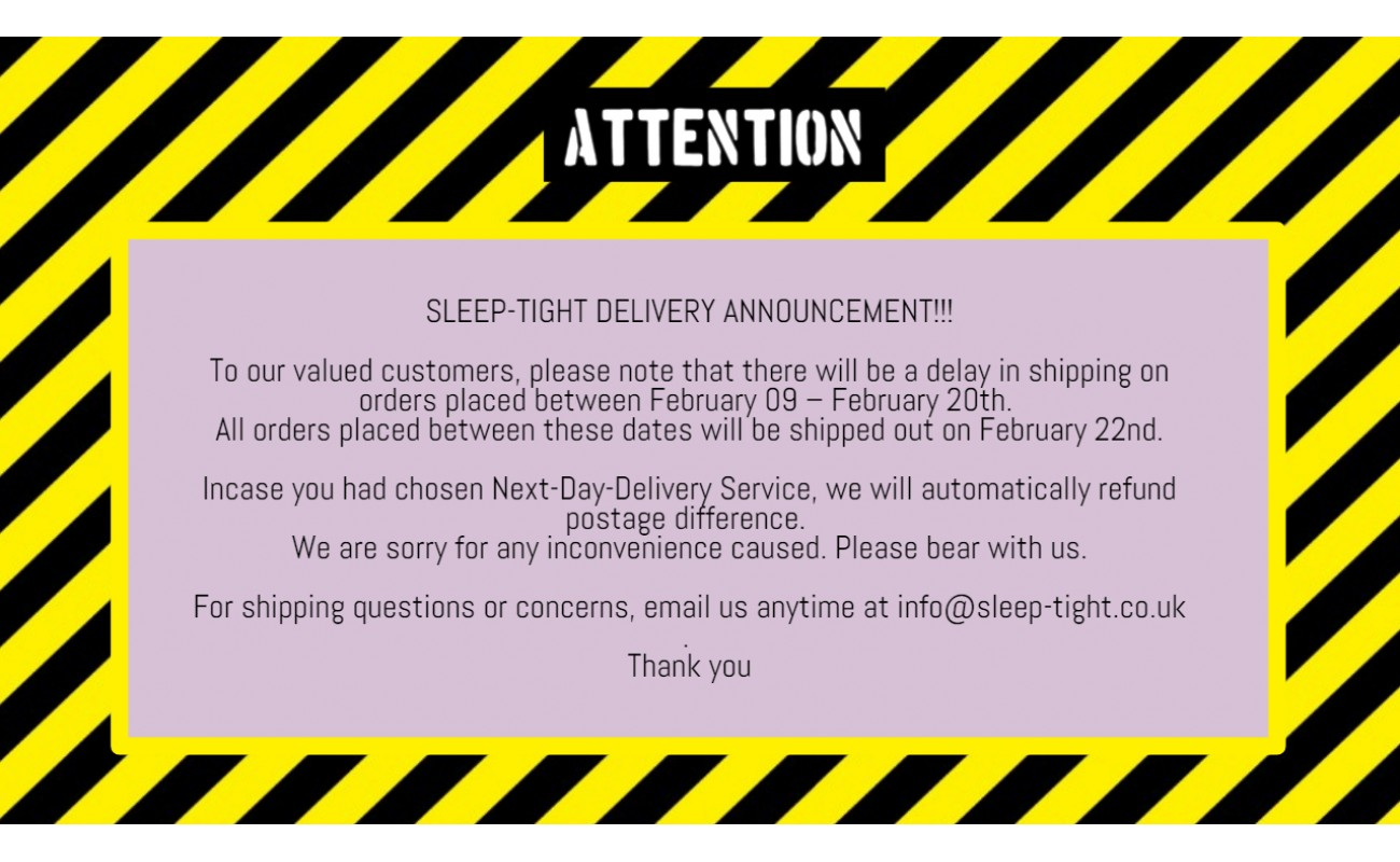 Shipping Announcement