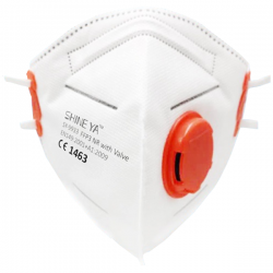 FFP3 Fold Flat Shine Ya Particulate Respirator with Valve