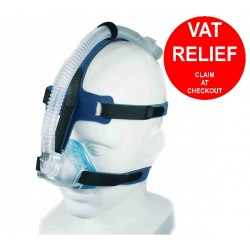 iQ Blue Nasal Mask with Headgear By Sleepnet - One Size Fits All
