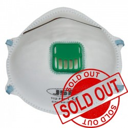JSP FFP1 Valved Disposable Moulded Mask (112) BEK110-001-000 SP