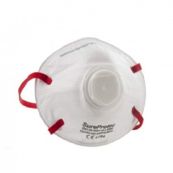 FFP3 Sureprotec Valved Dust Proof Face Mask Respiratory Protection