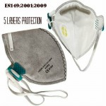FFP3 Valved Respirator Fold Flat Particulate Mask With Filter by Supreme TTF